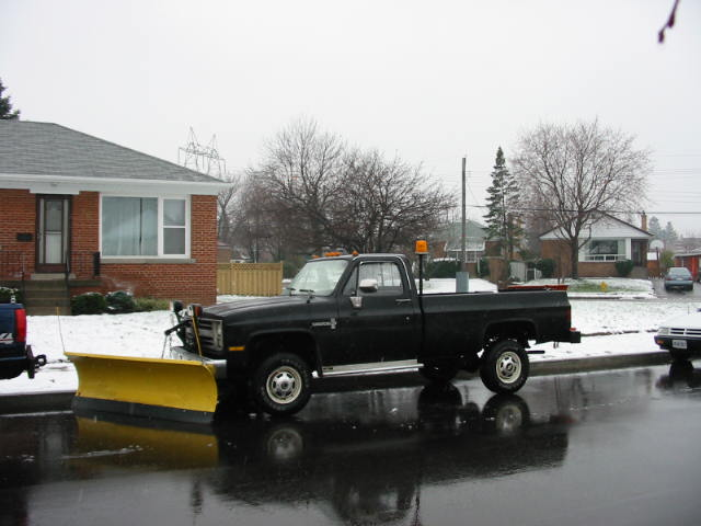 85 Chev On Road, With Plow.JPG