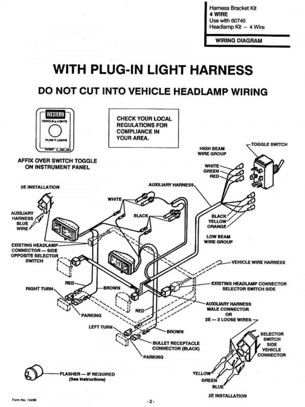 wiring diagram for old western plowsite cablelig jpg