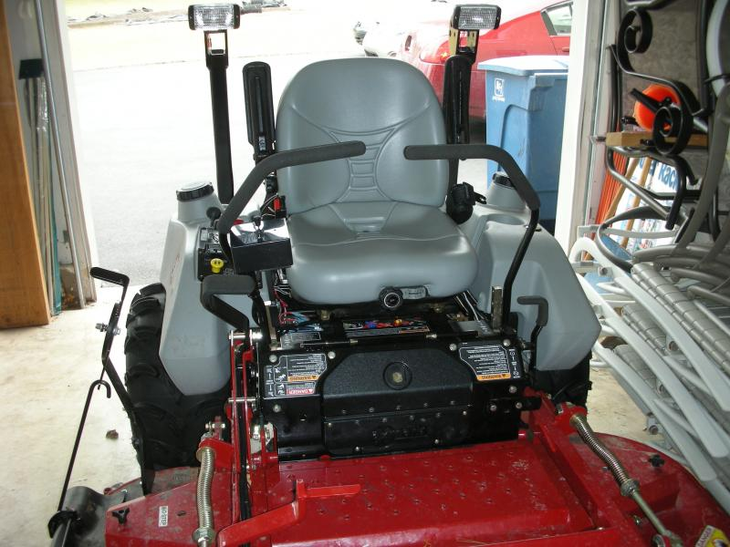Bad Boy ZTR mower snow blade | PlowSite