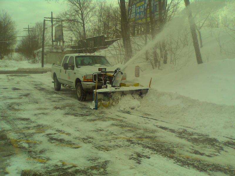 Snow Thrower Truck : Truck mounted snow blower plowsite