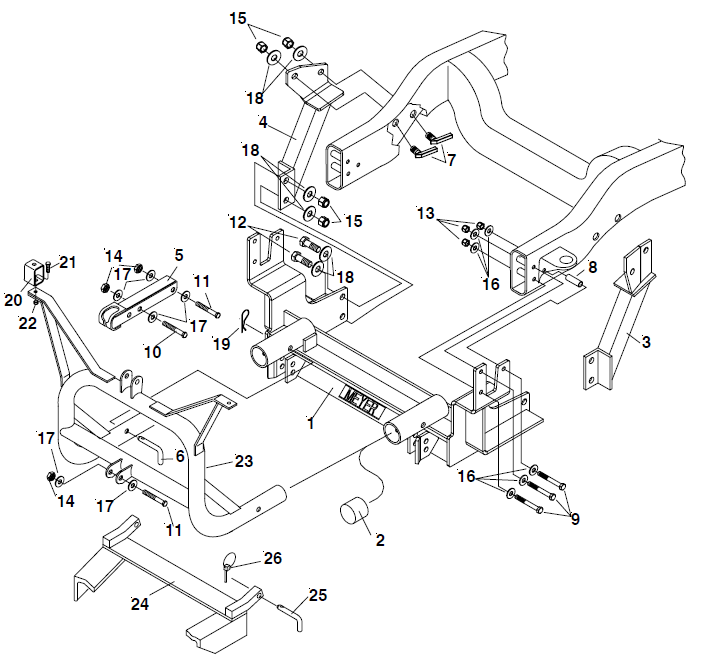 Meyer Classic Plow Mount 2003- Dodge 2500.png