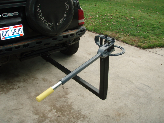 ... for towing just for accessories (bike rack,etc) Attachment is a HF bender adapted to the hitch via a bed extender. Where you at in Ohio, I'm in Toledo.