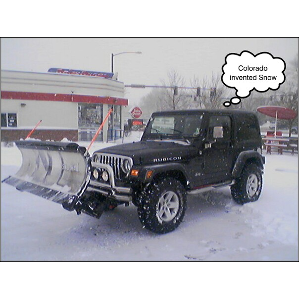 Jeep Wrangler Snow Plow >> Lifted Jeep Wrangler TJ Snowplow Installation | PlowSite