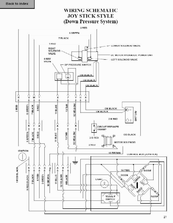 snow way plow solenoid wiring diagram