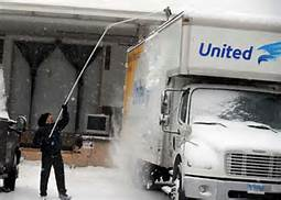 Tractor Trailer Roof Snow Removal Plowsite