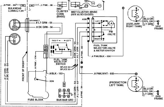 can anyone help with the wiring for dual tanks plowsite rh plowsite com wiring diagram for chevy fuel tank selector valve wiring diagram fuel tank sending unit