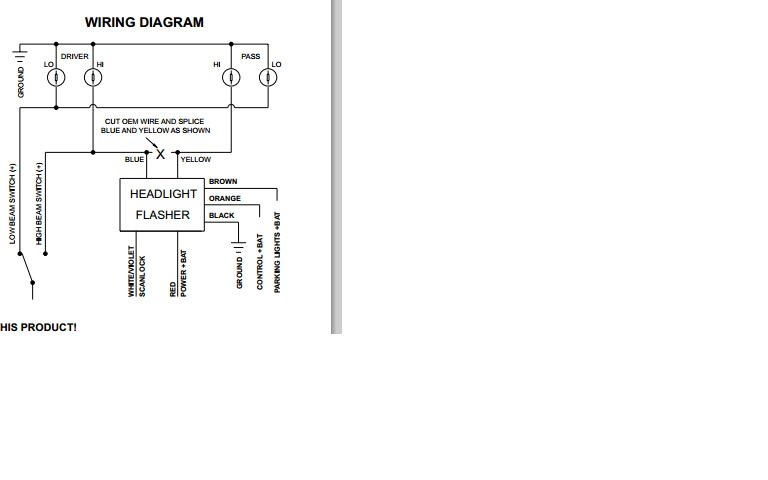 flasher help plowsitehere is the wiring diagram for the flasher